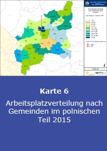Arbeitsplatzverteilung nach Gemeinden im polnischen Teil 2015