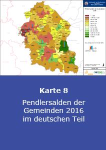 Pendlersalden der Gemeinden 2016 im deutschen Teil