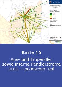 Aus- und Einpendler sowie interne Pendlerströme 2011 – polnischer Teil