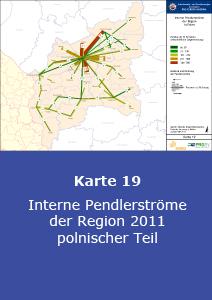 Interne Pendlerströme der Region 2011 – polnischer Teil