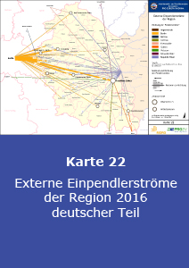 Externe Einpendlerströme der Region 2016 - deutscher Teil