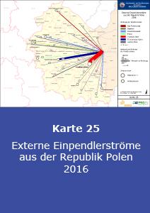 Externe Einpendlerströme aus der Republik Polen 2016