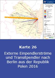 Externe Einpendlerströme und Transitpendler nach Berlin aus der Republik Polen 2016
