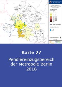 Pendlereinzugsbereich der Metropole Berlin 2016