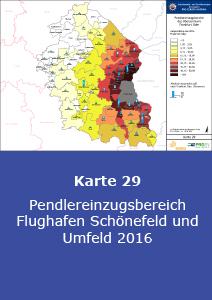 Pendlereinzugsbereich Flughafen Schönefeld und Umfeld 2016
