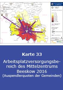 Arbeitsplatzversorgungsbereich des Mittelzentrums Beeskow 2016