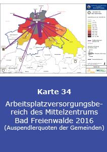 Arbeitsplatzversorgungsbereich des Mittelzentrums Bad Freienwalde 2016