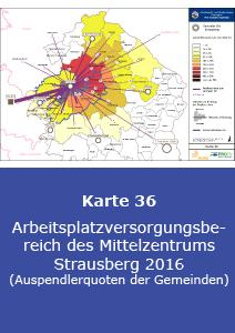 Arbeitsplatzversorgungsbereich des Mittelzentrums Strausberg 2016