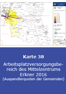 Arbeitsplatzversorgungsbereich des Mittelzentrums Erkner 2016